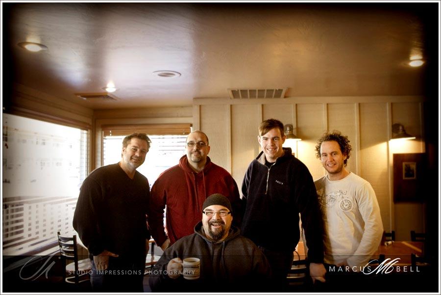 Woolly Mammoths L-R Marcus Bell, Greg Gibson, Adam Finch, Jason Starr and Parker Pfister seated.