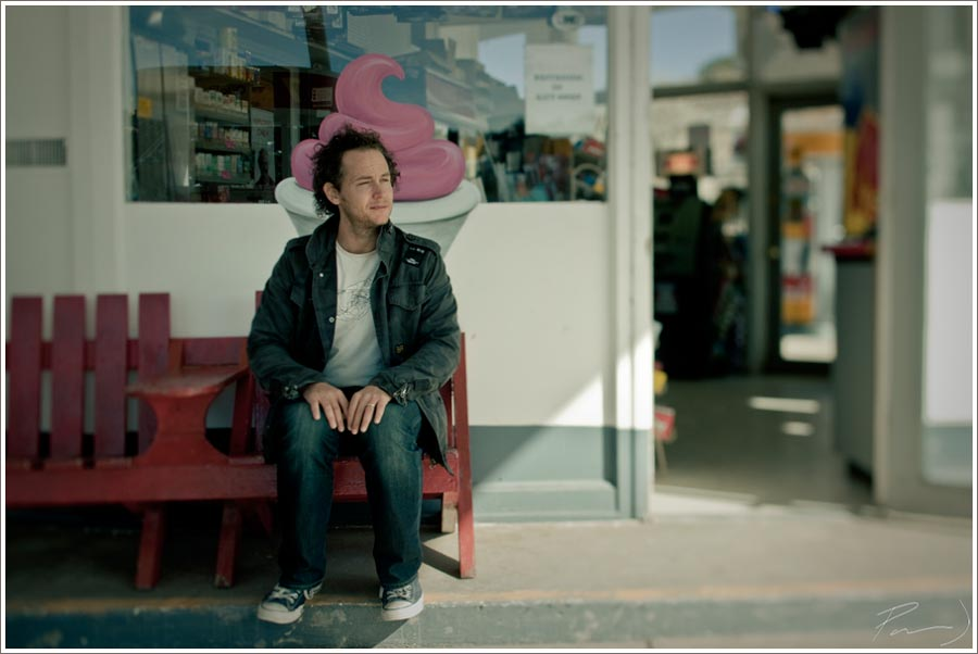 Here's a frame from Parker. Jason Starr waiting for his lunch.