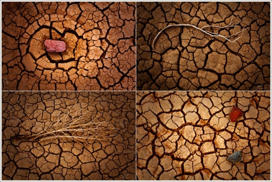 A cool sequence of images Parker shot in a dry creek bed beside the Interstate.