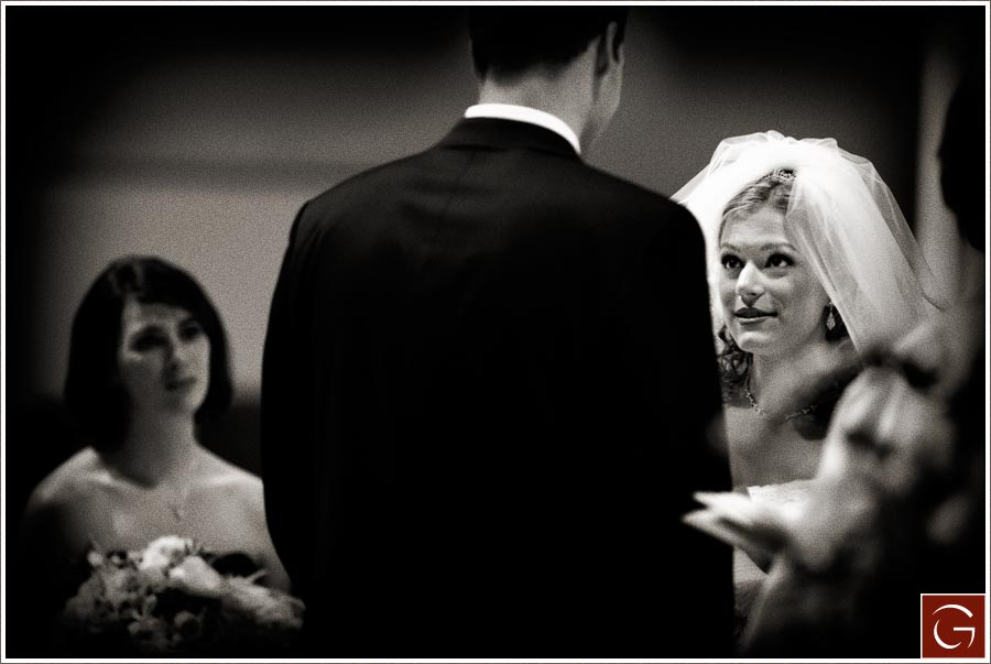 Full concentration during vows.