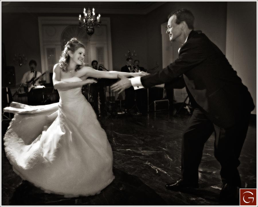 Marian and her dad did a fun, fast swing dance for their Father Daughter dance.